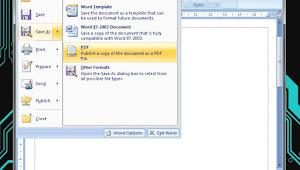 Cara Membuat File PDF dengan Microsoft Word