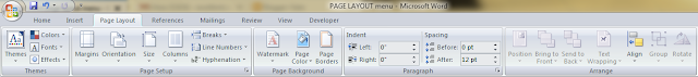 Full details of Ms Word Menu Bar Functions