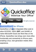 Quickoffice for iPhone adds editing support for Office 2007 files