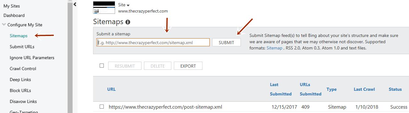 cara submit sitemap blogspot