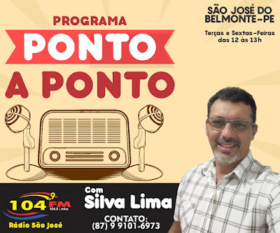 PROGRAMA PONTO A PONTO (SÃO JOSÉ DO BELMONTE-PE)