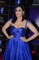 Mannara Chopra in Deep Neck Blue Gown at Zee Telugu Apsara Awards ~  Exclusive 013.jpg