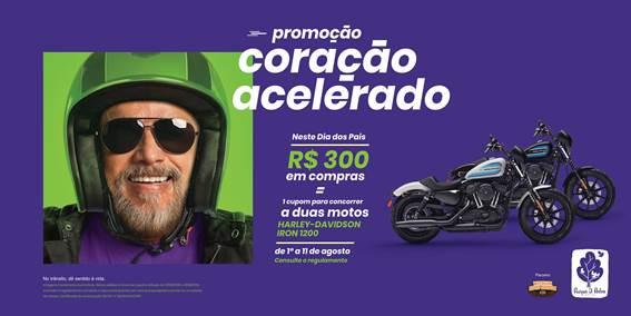 D. Pedro Shopping sorteia motos Harley-Davison em promoção para o Dia dos Pais