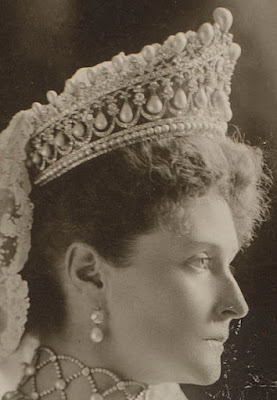 Empress Alexandra Feodorovna of Russia Diadem of Ancient Pearls