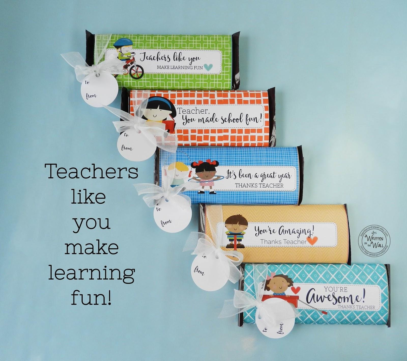 It's Written on the Wall: Teacher Appreciation Gift Ideas
