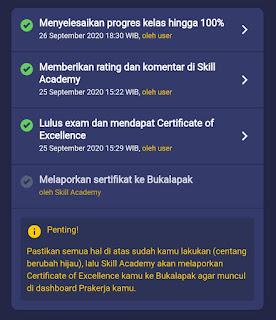 Cara Melaporkan Sertifikat ke Bukalapak Tokopedia Skill Academy