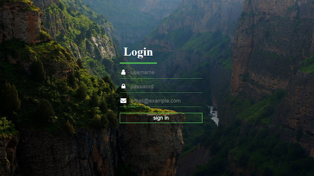Login Form|How to Create a Transparent login Form in HTML and CSS