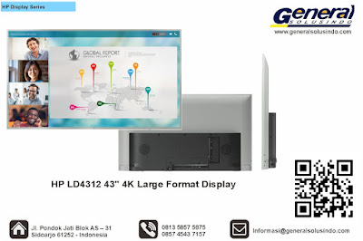 "HP LD4312 43"" 4K Large Format Display"
