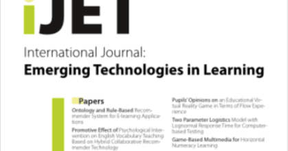 e-learning , conocimiento en red: Vol 14, No 15 (2019) International Journal of Emerging Technologies in Learning (iJET)