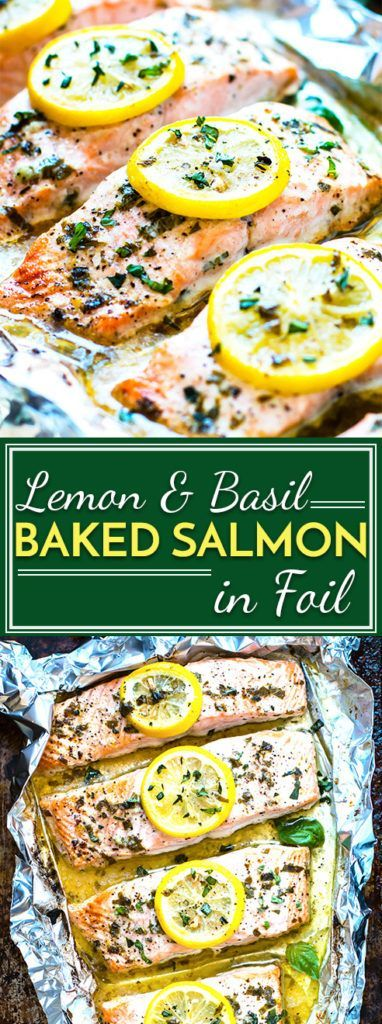 The Best Lemon & Basil Baked Salmon