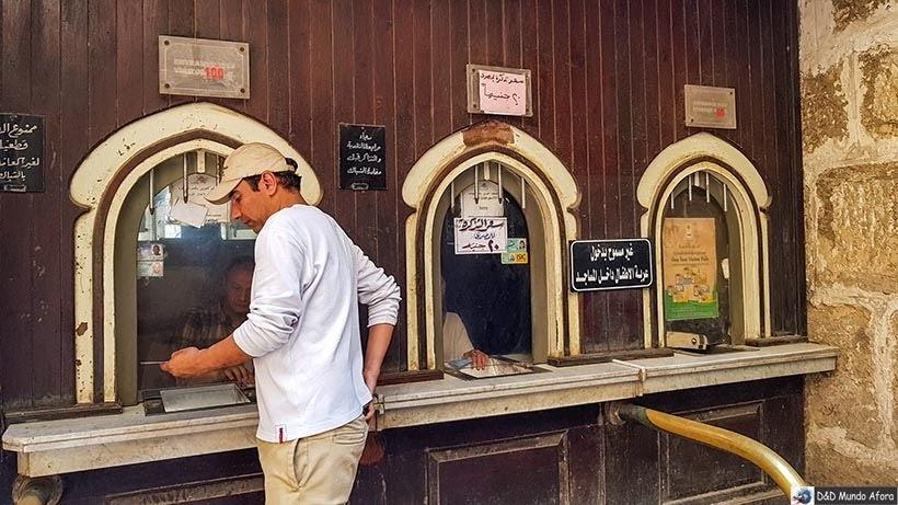 Bilheteria da Cidadela de Saladino no Cairo