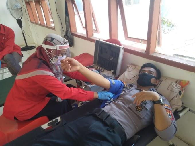 Cegah Covid-19, Polres Toraja Utara Gelar Donor Darah