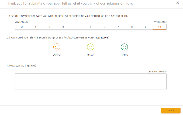 rating of App submission process