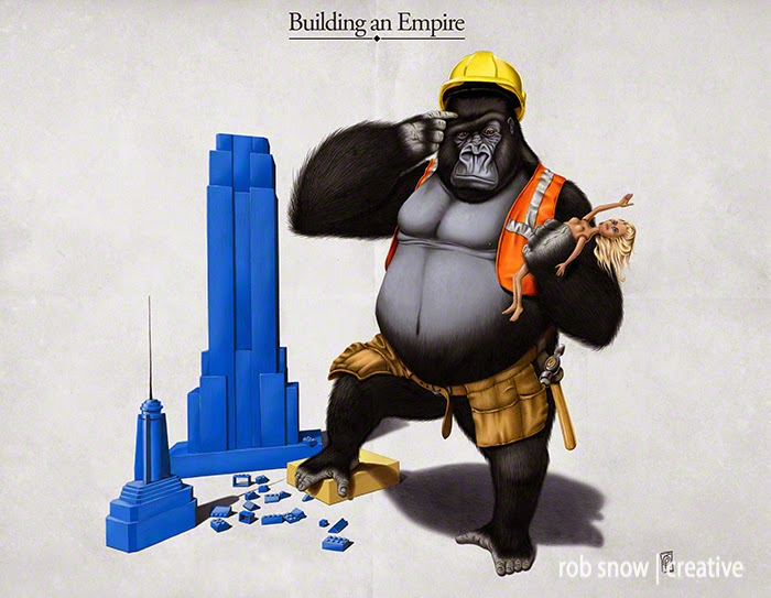 05-Building-an-Empire-Rob-Snow-Animal-Illustrations-Play-on-Words-www-designstack-co