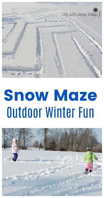 Build a Snow Maze for Active Winter Fun