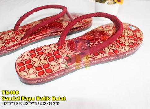 Sandal Kayu Batik Bulat