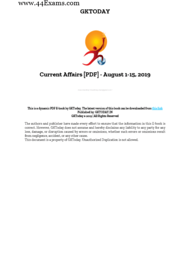 GK-Today-Current-Affairs-August-2019-For-All-Competitive-Exam-PDF-Book