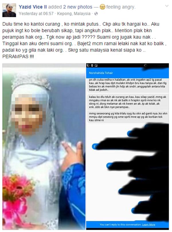 Kisah Wanita Serang Bekas Suami Di Majlis Perkahwinan, Kali Ni Giliran Isteri Pula 'Diserang' Bekas Teman Lelaki
