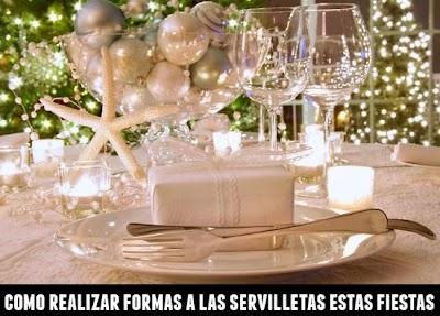 Servilletas para Adornar la Mesa en Fiestas y Navidades