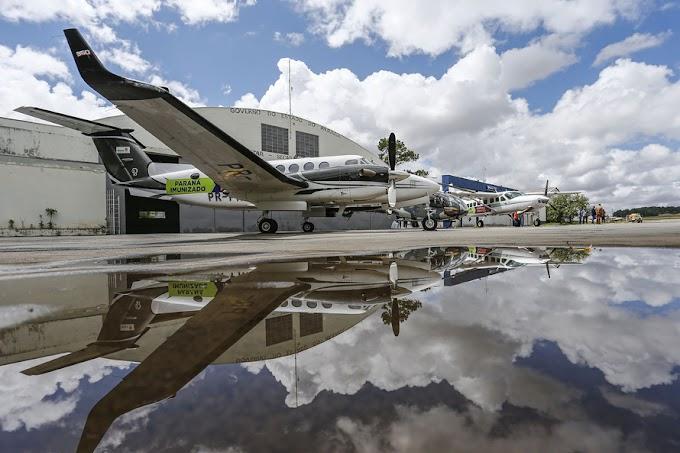 Governo vai usar frota aérea para agilizar transporte da vacina no Paraná