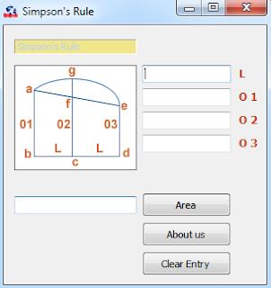 اداة لحساب مساحة الاشكال غير المنتظمة Simpson's Rule