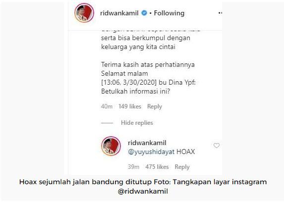 Bandung Berencana Tutup Sejumlah Jalan Di bandung HOAKS