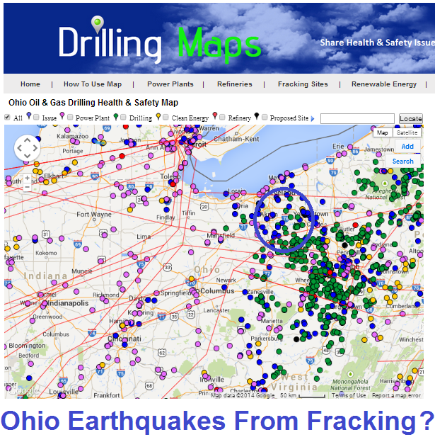 Ohio Earthquakes from Fracking