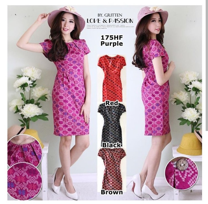 Dress Batik Motif (Fit to L)