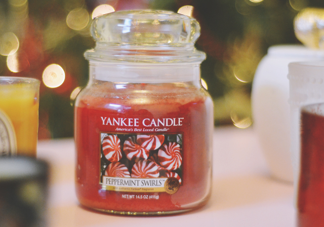 Yankee Candle Peppermint Swirl