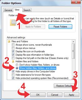 Cara Menyembunyikan dan Membuka File Rahasia Di Windows 7