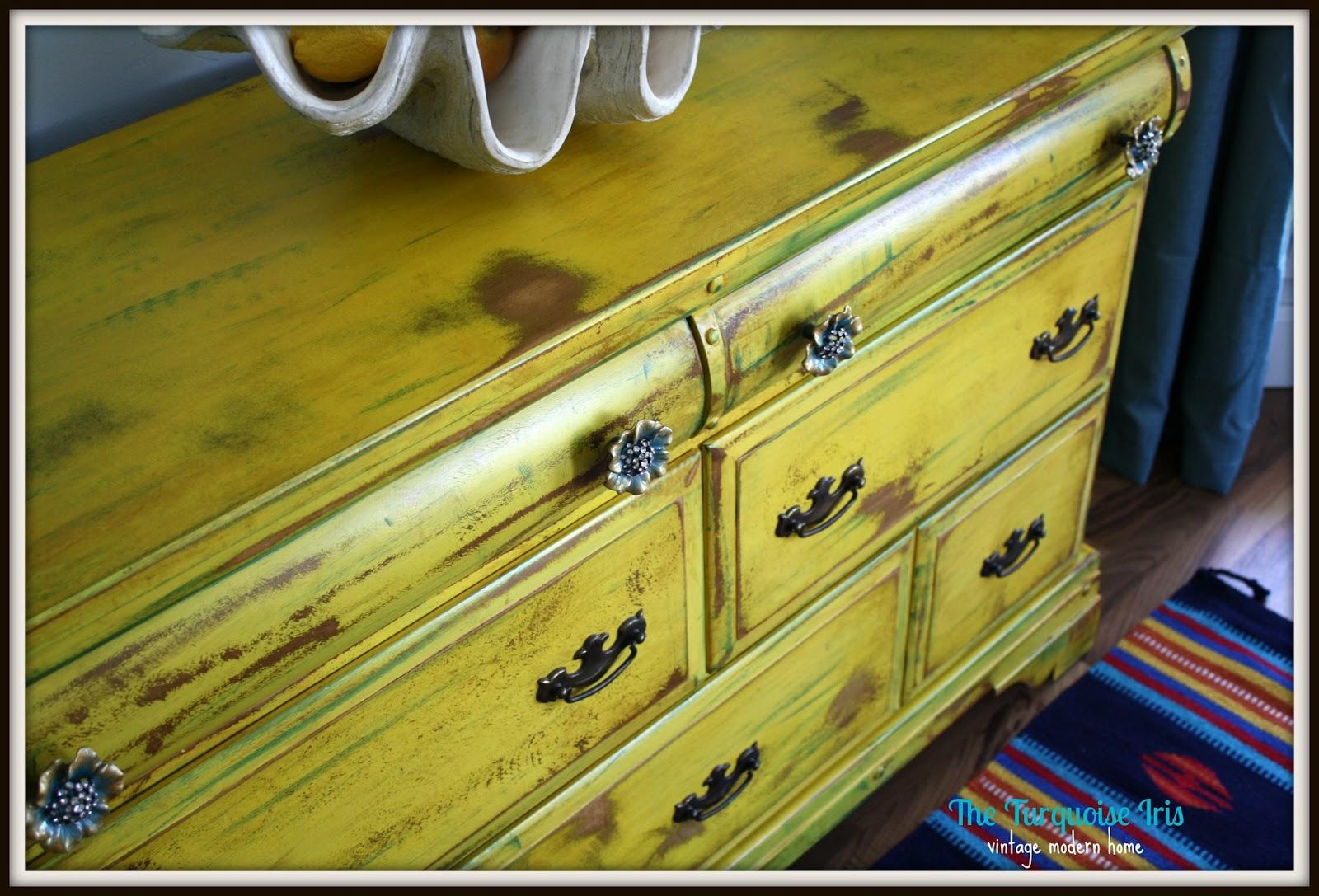 Well-known The Turquoise Iris ~ Furniture & Art: Vintage Yellow Dresser  XZ27