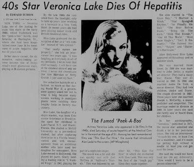 Veronica Lake Dead