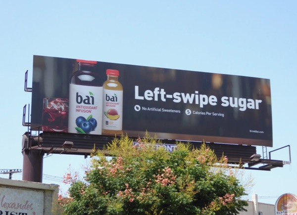 Bai Left swipe sugar billboard