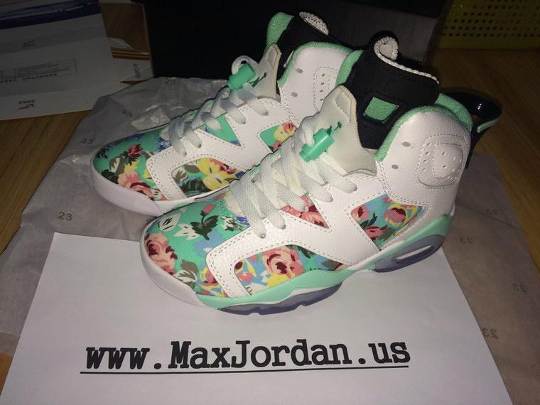 86e3c0893c299d switzerland girls air jordan 6 white water jade flower sneaker 2ddb7 6fd82