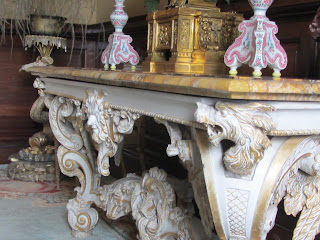 Ornate Side Table with Candle Sticks and Clock Russborough House