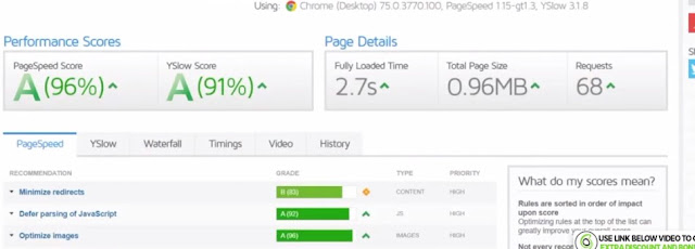 Final speed test of siteground website with wp fastest cache