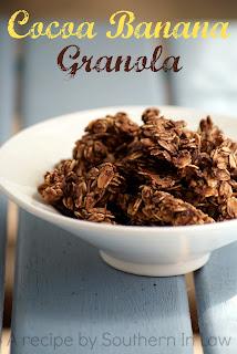Gluten Free Cocoa Banana Granola