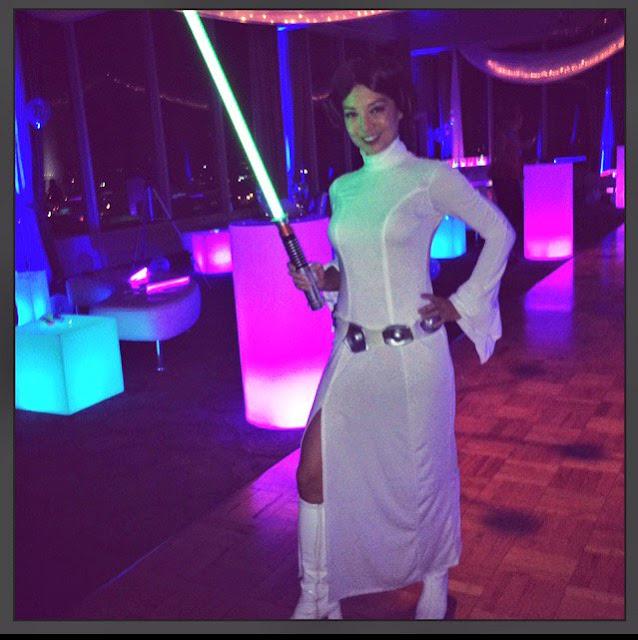 ming-na wen princess leia white costume