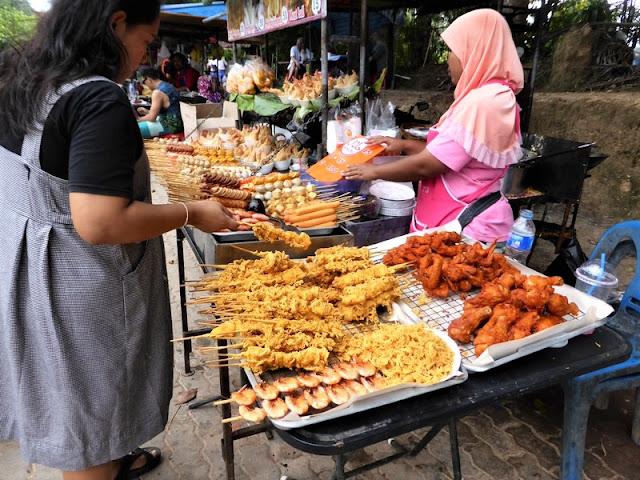 Aonang, puesto de comida