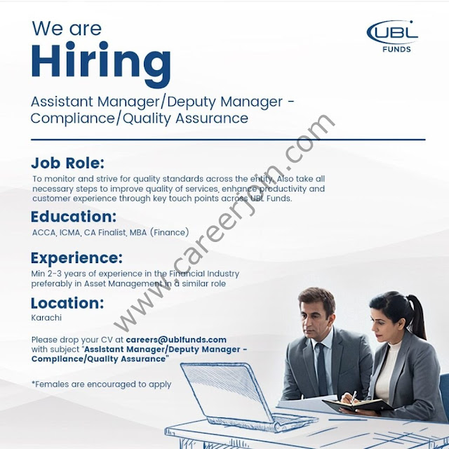 UBL Fund Managers Jobs June 2021