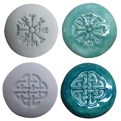 Celtic shield knot and Iceland magical stave