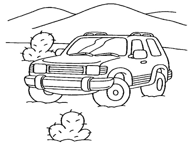 Free Printable Jeep Coloring Pages