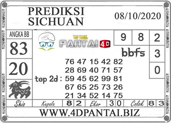 PREDIKSI TOGEL SICHUAN PANTAI4D 08 OKTOBER 2020
