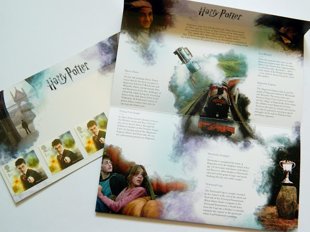 A photo showing Harry Potter information poster and stamps