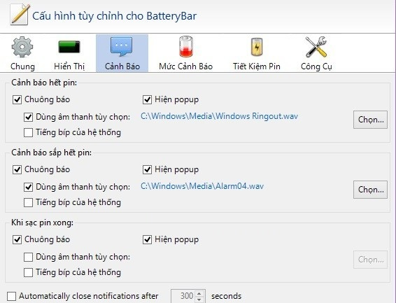 Sử dụng phần mềm BatteryBar