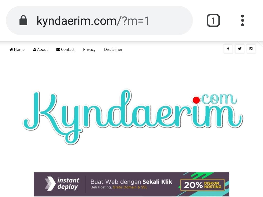 Website Blog Kyndaerim By Bayu-Media Web & Blog