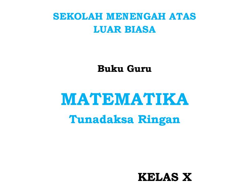 Mata Pelajaran Matematika Kelas 10 SMALB Tunadaksa