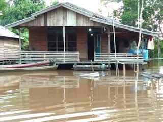 Akibat Banjir Kiriman dan Saluran Tersumbat, Sebanyaj 154 Rumah Warga di Desa Kubu Padi Terendam Banjir