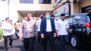 Kapolda Lampung Irjen Pol. Drs. Purwadi Arianto Sambut Kunker Anggota Komisi III DPR RI Taufik Basari