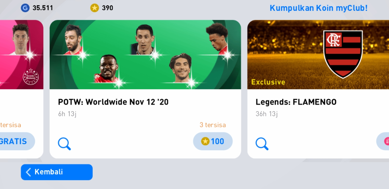 eFootball PES 2021 POTW Worldwide Nov 12 '20